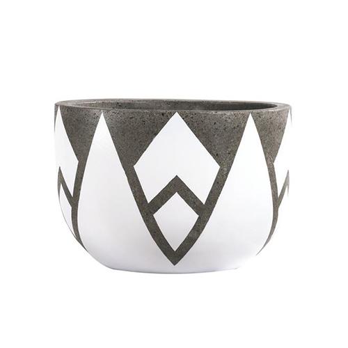 Vietnamese Hand-Painting Cement Plant Pots HPC003