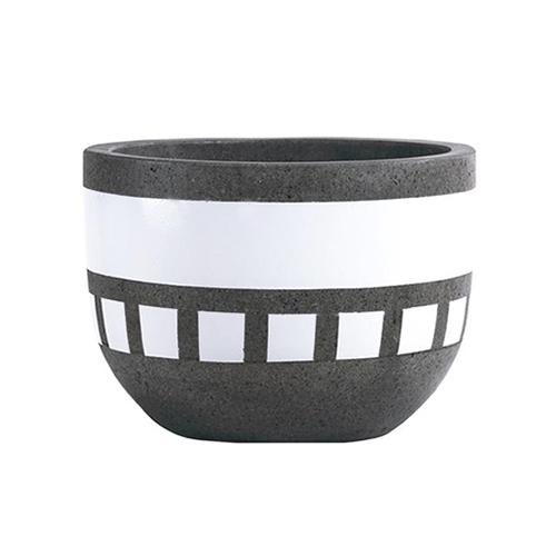 Vietnamese Hand-Painting Cement Plant Pots HPC010