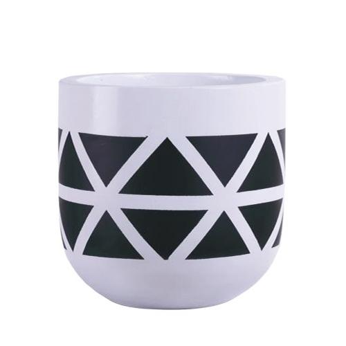 Vietnamese Hand-Painting Cement Plant Pots HPC049