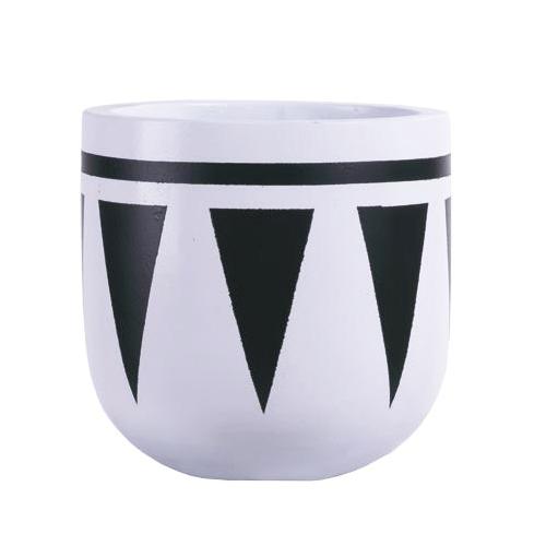 Vietnamese Hand-Painting Cement Plant Pots HPC051