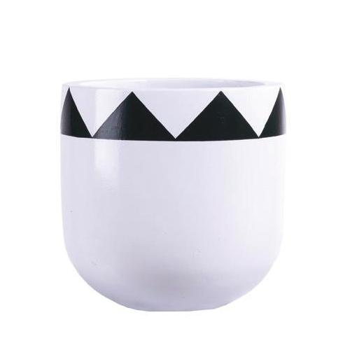 Vietnamese Hand-Painting Cement Plant Pots HPC059