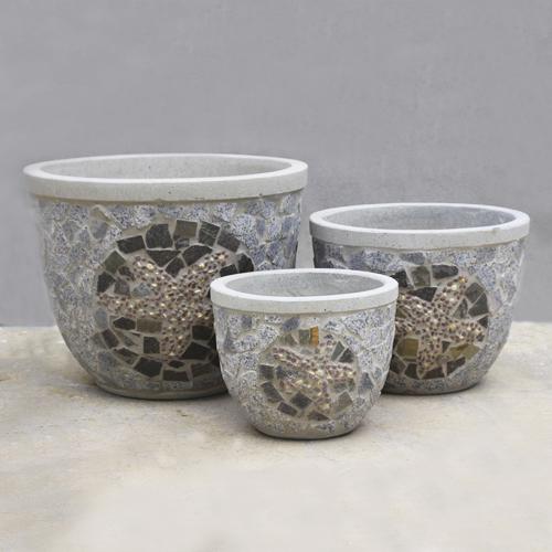 Stone Cement Pot – SCP004 – Vietnam concrete planter